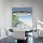 "Corona // LED Pendant // Ring (32"")"