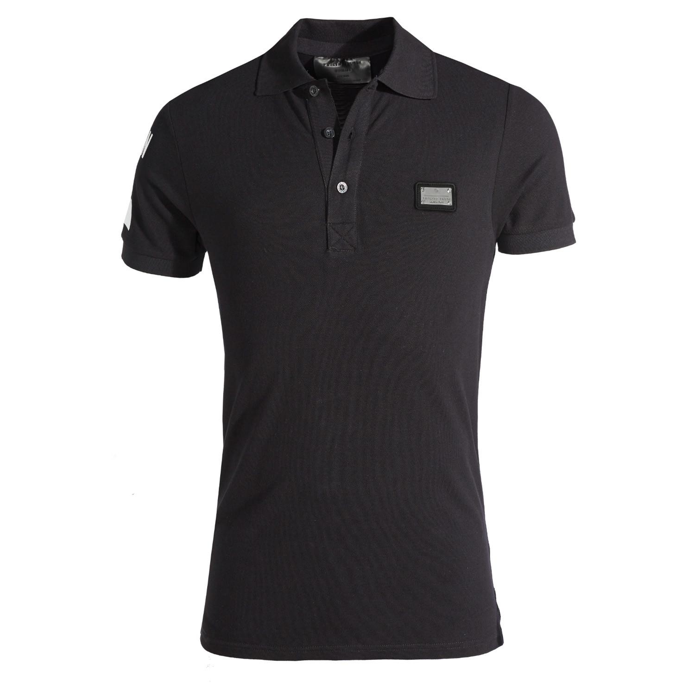 plein polo shirt black s philipp plein touch of modern. Black Bedroom Furniture Sets. Home Design Ideas