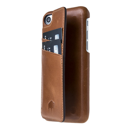 Ultimate Snap On Stand Case Burnished Tan Leather