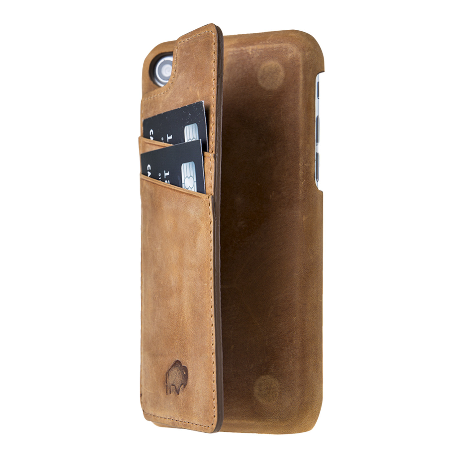 Ultimate Snap On Stand Case Anique Camel Leather