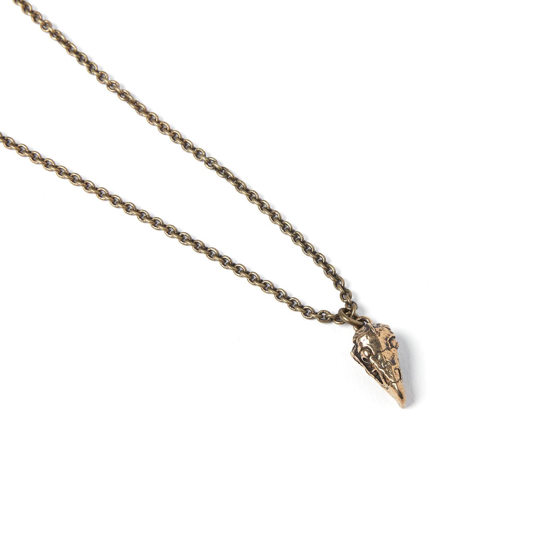 "Vulture Skull Necklace // Bronze (18"" Chain) - Moon Raven ... |Turkey Vulture Skull Pendant"