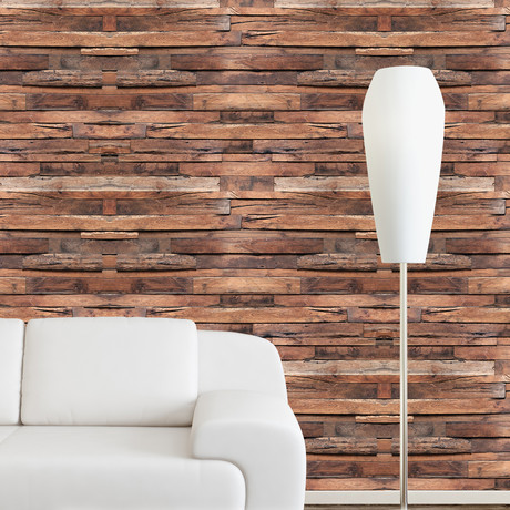 Flexiplus Timber Strips // Wall Sticker // Set of 4