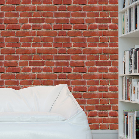 Vintage Brick Wall // Removable