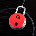 Quicklock 2.0 NFC Bluetooth Padlock + NFC FOB // Red