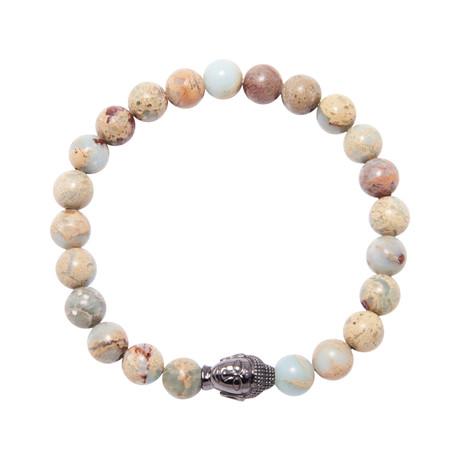 Opal + Buddha Charm Bracelet