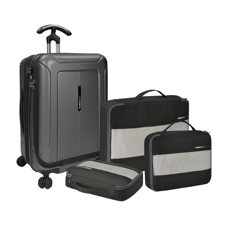 "Barcelona Hardside Spinner + Packing Cubes Set // Gray (22"")"