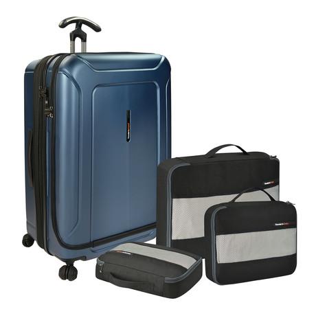 Barcelona Hardside Spinner + Packing Cubes Set // Blue