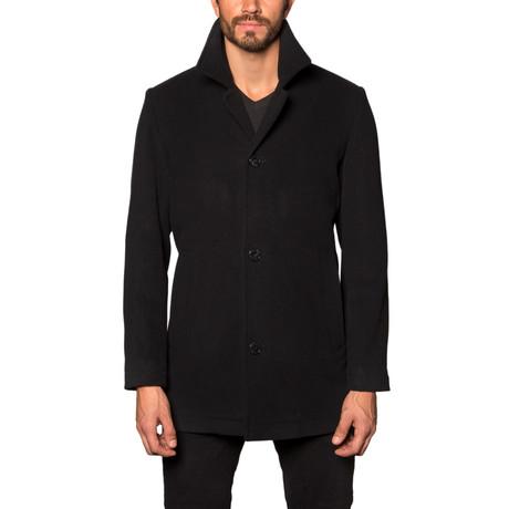 American Cashmere Blend Overcoat // Black (S)