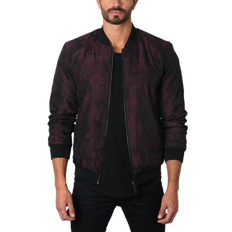 New York Reversible Camo Bomber // Burgundy Camo (S)