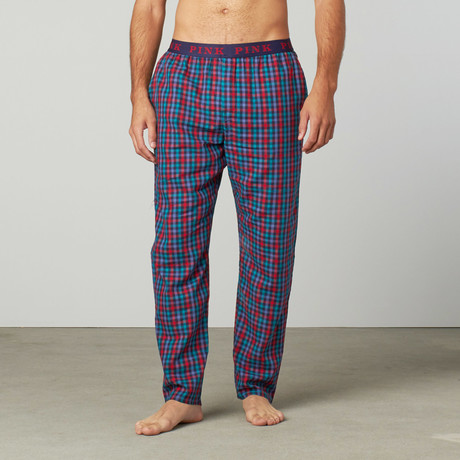 Borough Lounge Pant // Red + Green Plaid
