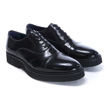 Platform Cap-Toe Derby // Black