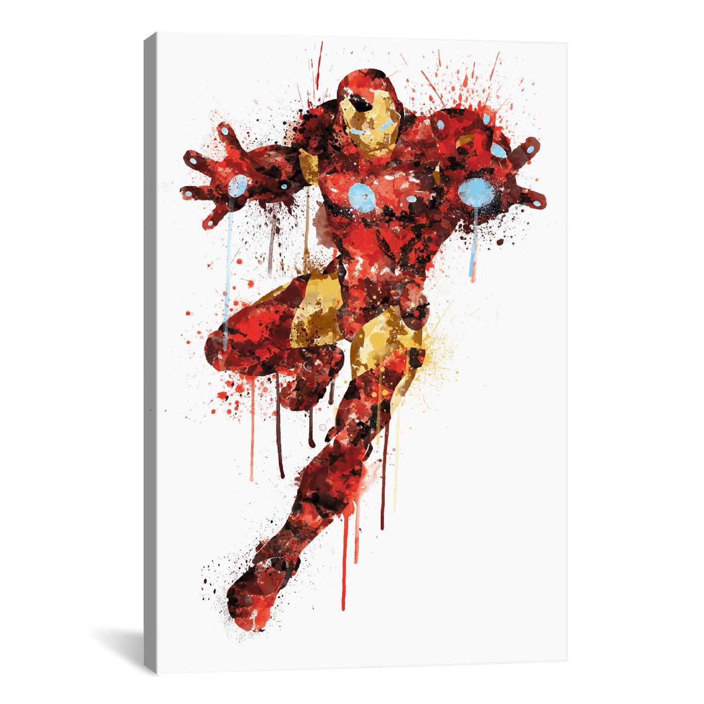 "Avengers Watercolor: Avengers Assemble // Iron Man // Watercolor Splatter (60""W"