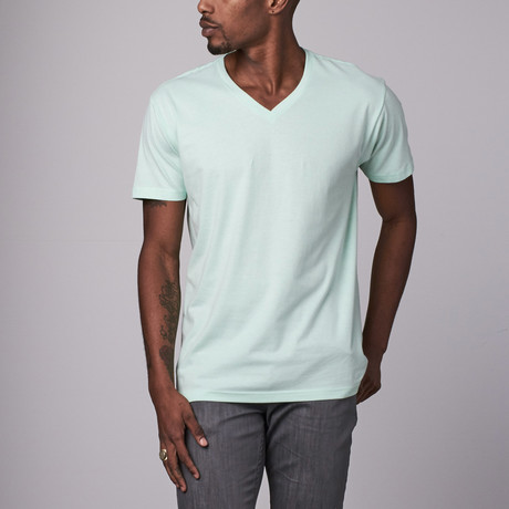 Ultra Soft Sueded V-Neck // Mint (S)