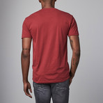 Ultra Soft Sueded V-Neck // Burgundy (S)