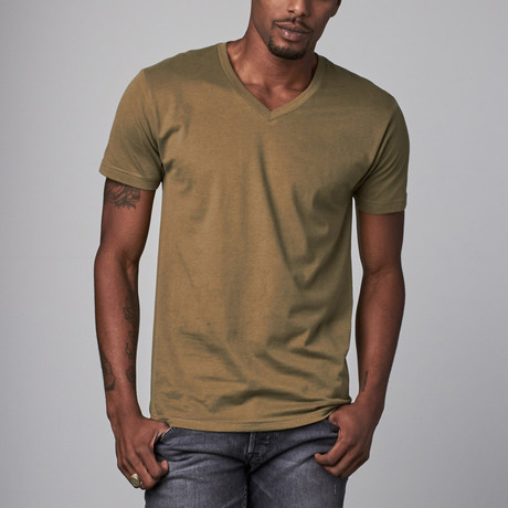 Ultra Soft Sueded V-Neck // Military Green (S)