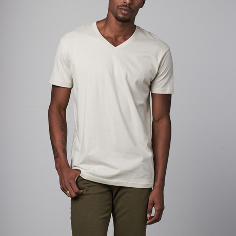 Ultra Soft Sueded V-Neck // Sand (S)