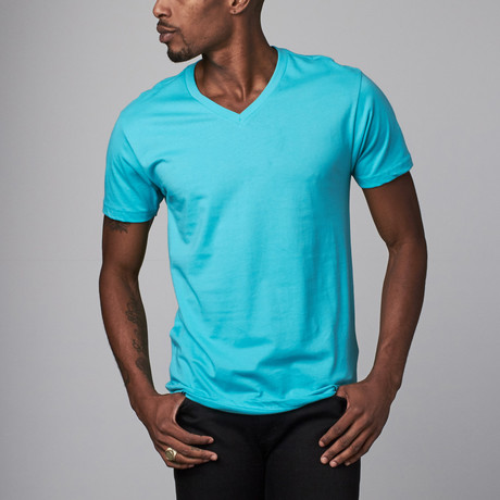 Ultra Soft Sueded V-Neck // Turquoise (S)