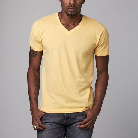 Ultra Soft Suede V-Neck // Yellow