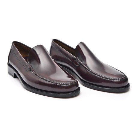 Leather Sole Slip-On Loafer // Antic Bordeaux