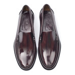 Leather Sole Slip-On Loafer // Antic Bordeaux (Euro: 45)