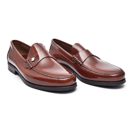 Rubber Sole Ornament Loafer // Antic Chestnut
