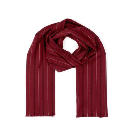Wool Scarf // Red Stripe