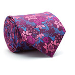 Hand Made Tie // Purple + Rose Pink Floral