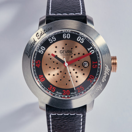 Gevril alberto ascari automatic limited collection 1100 gevril watches touch of modern for Gevril watches