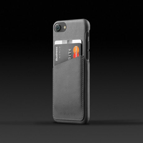 Leather Wallet Case // Gray // iPhone 7/8 or 7/8 Plus