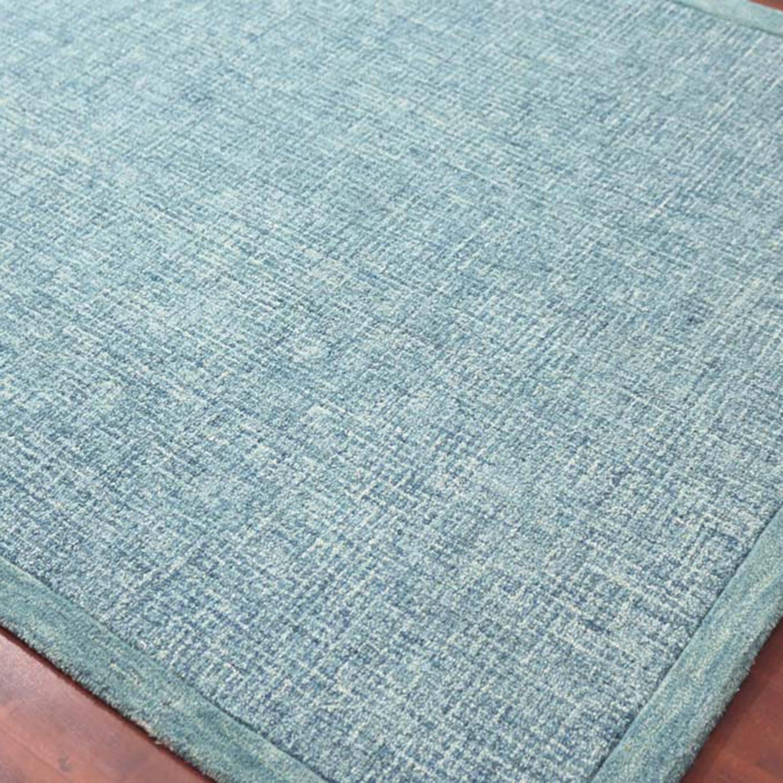 Idina Area Rug // Teal Gray (2'L X 3'W)