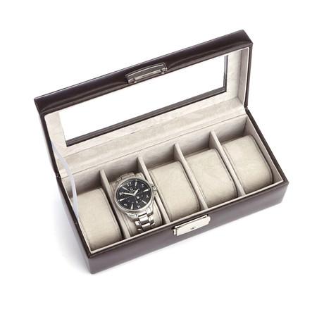 Five Slot Watch Box // Aristo Leather (Black)