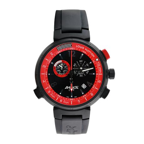 Louis Vuitton Tambour America's Cup Chronograph Quartz // Q101A // 808-TM1L09247 // c.2000's // Pre-...