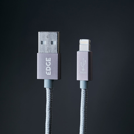 Gemini Cable II // Lightning + Micro USB Charge/Sync Cable // Space Gray