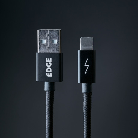 Gemini Cable II // Lightning & Micro USB Charge/Sync Cable // Dark Matter