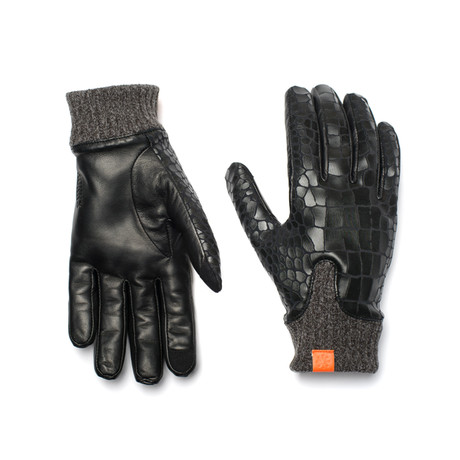 Logan Glove // Noir Crocodile (Large)