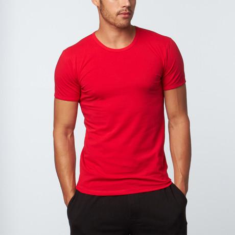 Versace // Crew Neck T-Shirt // Red (XS)