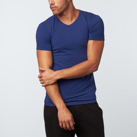 Versace // V-Neck T-Shirt // Blue (XS)
