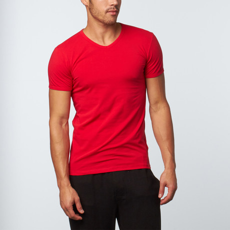 Versace // V-Neck T-Shirt // Red (XS)