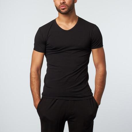 Versace // V-Neck T-Shirt // Black (XS)