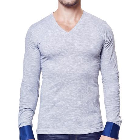 V-Neck Dress Shirt // Charcoal