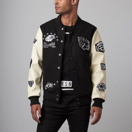 Quality Goods Varsity Jacket // Black + White