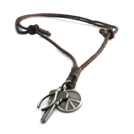3 Luck Pendants Necklace
