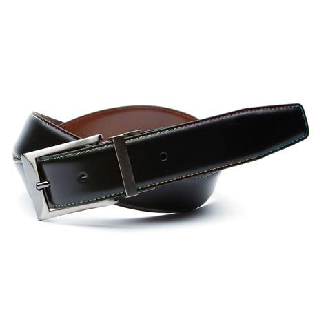 Warhol Reversible Belt // Cognac + Black