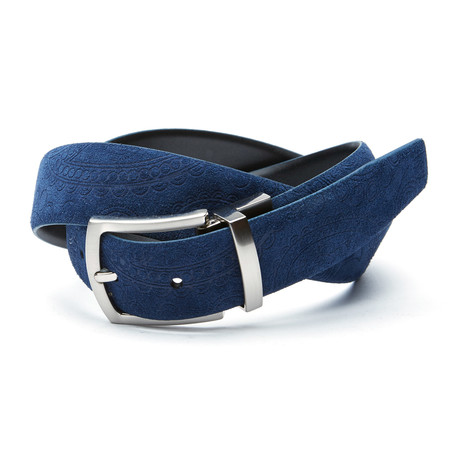 Picasso Reversible Belt // Navy + Black