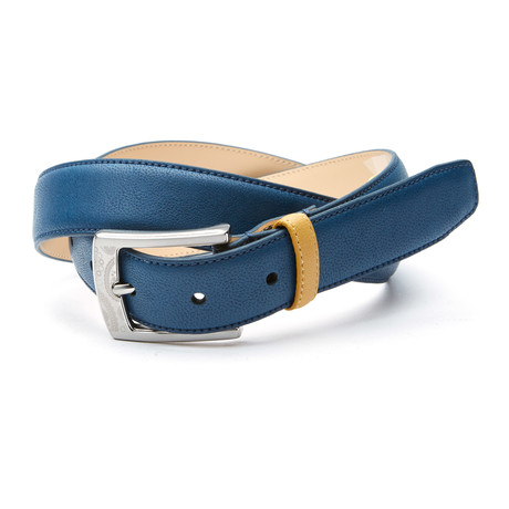 Mondrian Belt // Navy + Yellow Loop