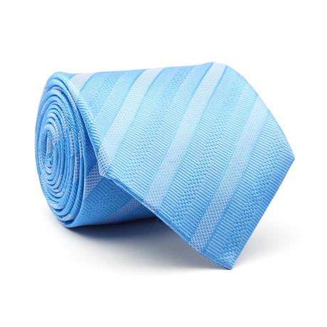 Diagonal Stripes Tie // Sky Blue