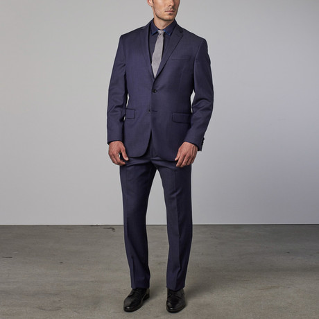 Wool Suit // New Blue Shark Skin