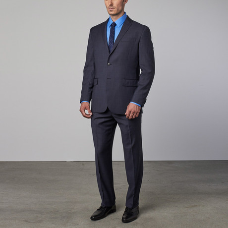 Wool Suit // Mid-Blue Tick Weave