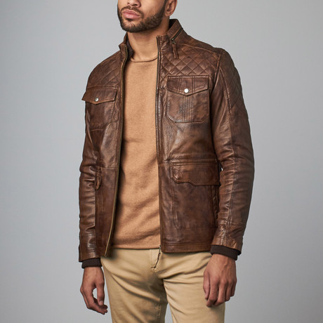 Collar Jacket // Brown