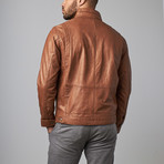 Classic Leather Jacket // Cognac (2XL)